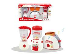 B/O Syrup Juicer & Bread Machine & Water Dispenser toys