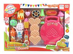 Waffle Machine Western Food Set toys