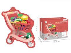 Shopping Car Set W/L_M & Fruit Set
