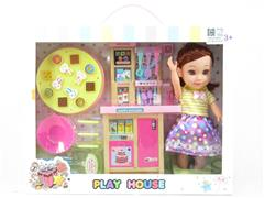 Kitchen Set & 10inch Girl W/L_M toys