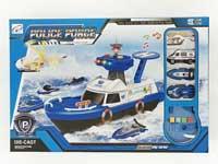 Metal Police Boat