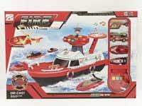 Metal Fire Boat