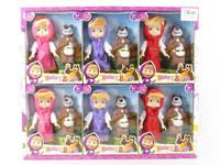 6inch Doll & Bear(6in1)