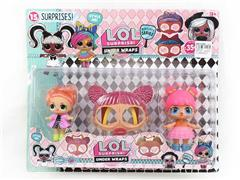 3.5-4.5inch Surprise Doll Set(2in1) toys