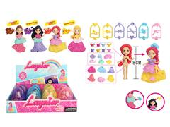 3.5inch Princess Set(12in1) toys