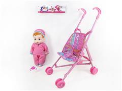 12inch Doll & Go-cart toys