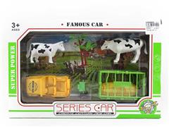 Farm Set & Free Wheel Car toys