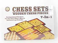 7in1 Wooden Play Chess
