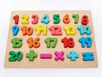 Wooden Preschool Colorful Number Board