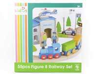 Wooden Track Series(55pcs)