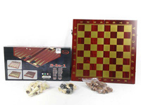 3in1 Wooden International Chin Chess toys