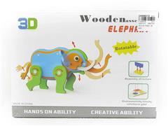 Wooden Diy Elephant toys