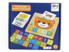 Wooden Alphabet Animal Puzzle Box toys