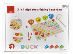 Wooden Fishing Puzzle Box With Capital Letters toys