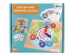 Wooden Clock Digital Puzzle Box toys