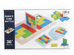 Wooden Rubik Cube toys