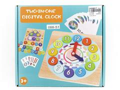 Wooden Spelling Digital Clock toys
