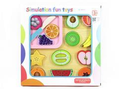 Wooden Fruit Cut Set toys