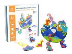 Wooden Dinosaur Balance Game toys