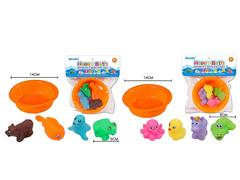 Latex Animal & Tub(4in1)
