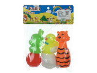 Latex Animal & Bowling Game(3in1) toys