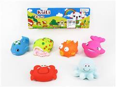 Latex Sea Animal(6in1) toys