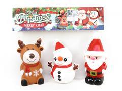 Latex Santa Claus & Snowman & Elk toys