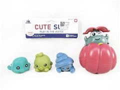 Latex Animal & Shell Crab toys