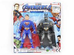 Super Man & Bat Man W/L(2in1) toys