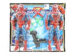 Spider Man W/L & Flying  Dick Gun toys
