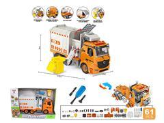 1:12 Diy Friction Sanitation Truck W/L_S