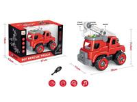 Diy Fire Engine W/L_S toys