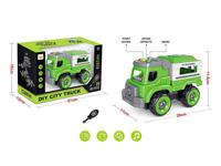 Diy Police Car W/L_S toys