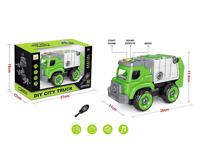 Diy Sanitation Truck W/L_S toys