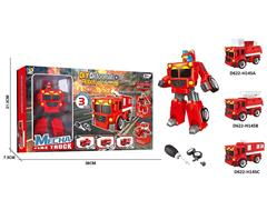 Diy Transforms Fire Engine(3S) toys