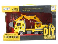 Diy Block Construction Truck W/L_M toys
