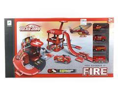 Diy Die Cast Fire Parking Lot toys