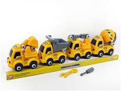 Diy Construction Truck(4in1) toys