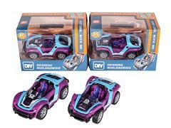 Diy Die Cast Racing Car Pull Back(2S2C) toys