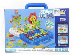 3D Screw Jigsaw Tool Box toys