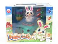 电动跳跳兔与萝卜带灯光音乐