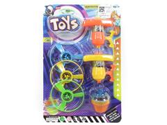 2in1 Flying Saucer Top W/L toys