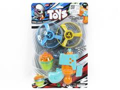 2in1 Flying Saucer Top Gun W/L toys