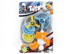 3in1 Flying Saucer Top Gun toys