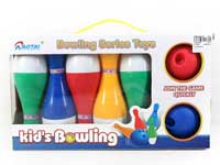 18cm Bowling Game W/Bell toys