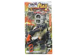 Soft Bullet Gun Set(3in1) toys