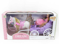 Carriage & 7inch Doll