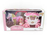 Carriage & 3inch Doll toys