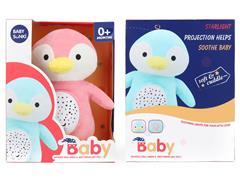 Plush Projection Penguin W/IC toys