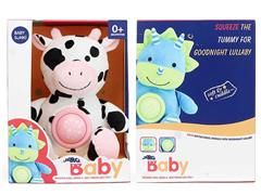 Plush Calms Cows W/L_S toys